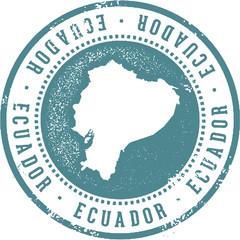 Vintage Ecuador South America Travel Stamp