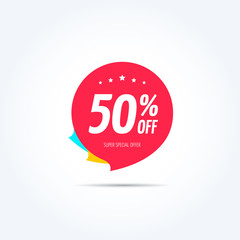 50% Off Offer Tag