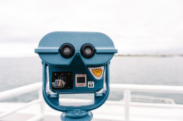 viewfinder on a ferry