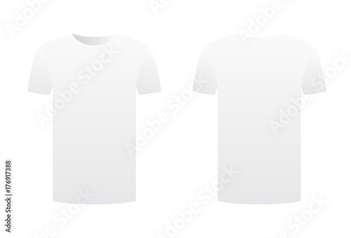 8ec626709 White t-shirt template shirt isolated on white background front and back  design short sleeve