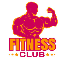 Vector logo for bodybuilding