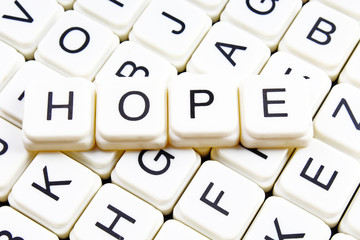 Hope title cover text word crossword heading from letters