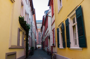 Colorfull buildings in old town in Germany