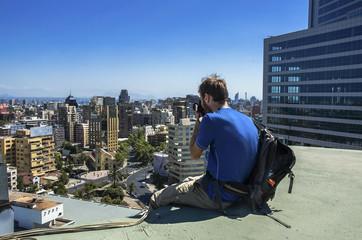 Wall Mural - Modern cityscape of Santiago de Chile