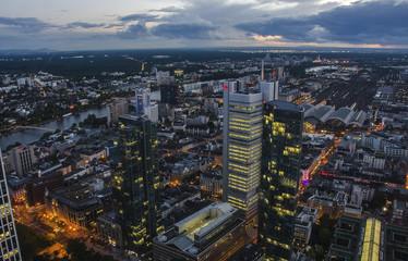 Frankfurt am Main at night, Germany