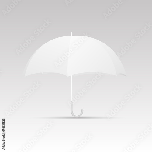White Umbrella Blank Template Vector Stock Image And Royalty Free