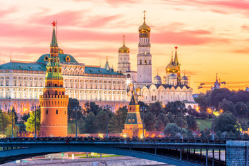 Aluminium Prints Asian Famous Place Moscow Kremlin