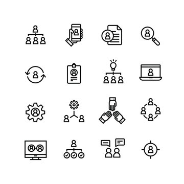 Human Resources Careers Business Stakeholder Negotiation Communication Icon Set