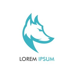 Simple Wolf Letter P Logo Design and Concept Vector Illustration for identity, brand, label, emblem in flat trend design