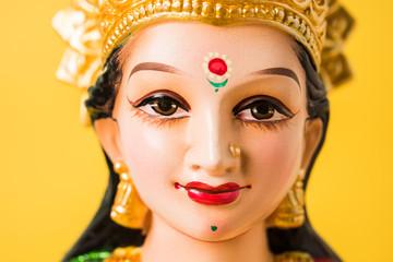 Idol worshipping of Hindu Goddess Lakshmi - Lakshmi Puja is a Hindu religious festival that falls on Amavasya (new moon day) which is  the third day of Tihar or Deepawali
