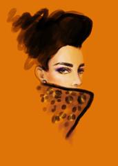 Fototapete - Beautiful woman. fashion illustration