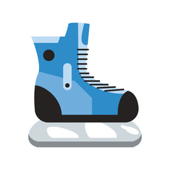 ice skates winter sports related icon image vector illustration design