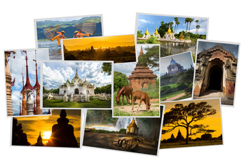 Сollection photos of the Bagan, ancient city of Myanmar,Asia