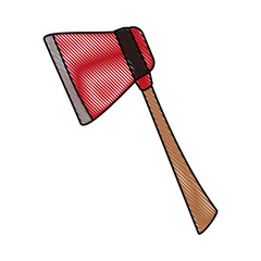 Firefigther axe tool icon vector illustration graphic design
