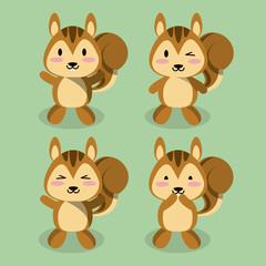 Cute squirrel icons icon vector illustration graphic design