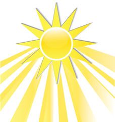 The sun icon logo