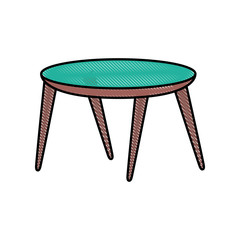 wooden round table furniture decoration