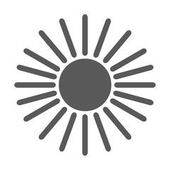 Sun icon vector simple