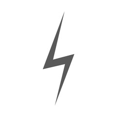 Lightning icon vector simple