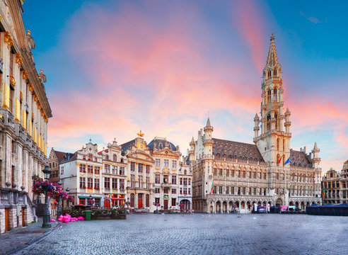 Brussels - Grand place, Belgium, nobody