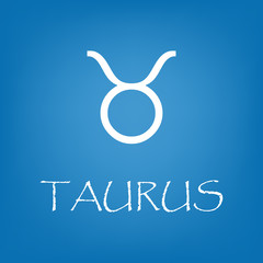 Taurus zodiac sign icon vector simple