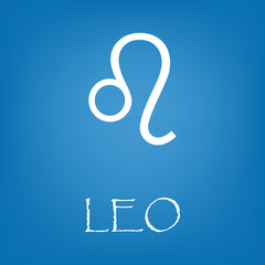 Leo zodiac sign icon vector simple