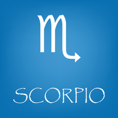 Scorpio zodiac sign icon vector simple