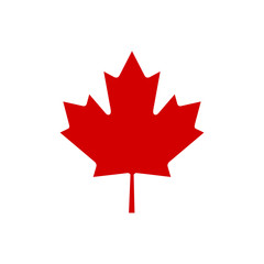 Canada maple leaf icon vector simple