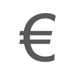 Euro symbol icon vector simple