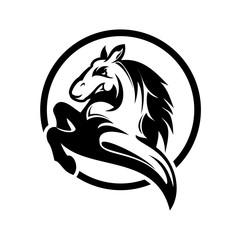 horse logo / icon illustration