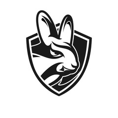 rabbit logo / icon illustration