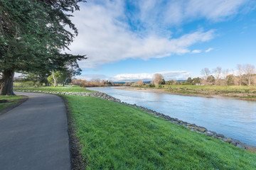 Banks of the Manawatu River in Palmerston North New Zealand
