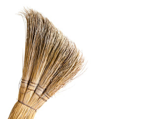 broom for cleaning the house on a white background