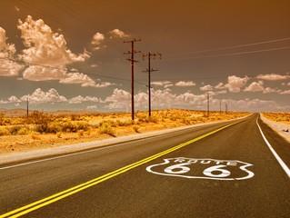 Türaufkleber Route 66 U.S. Route 66 highway.