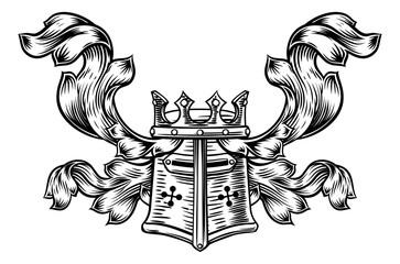 Helmet Heraldic Crest