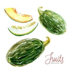 Watercolor fruit sketch