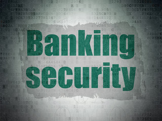 Security concept: Banking Security on Digital Data Paper background