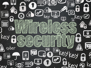 Security concept: Wireless Security on School board background