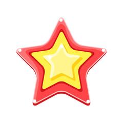 Bright colored cartoon star vector Illustration