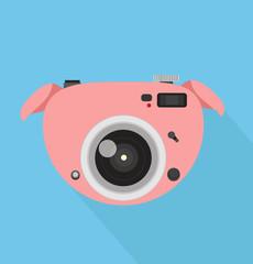 camera pig