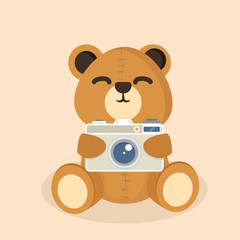 bear doll with camera