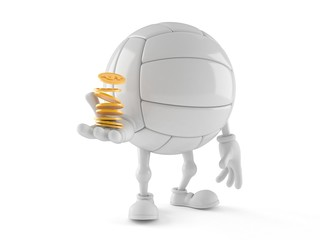 Volleyball character with coins