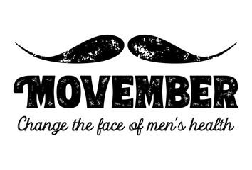 Movember, awareness of men's health issues. Vector