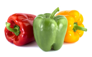 Bulgarian pepper isolated on white background