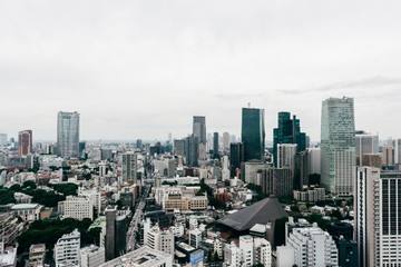 Tokyo skyline from Tokyo Tower