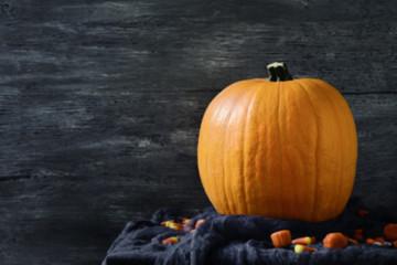 pumpkin and halloween candies