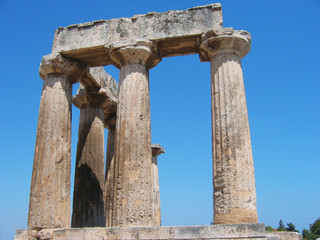 Archaeological site of Ancient Corinth Peloponnese Greece