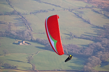 Paraglider in thr Brecon Beacons