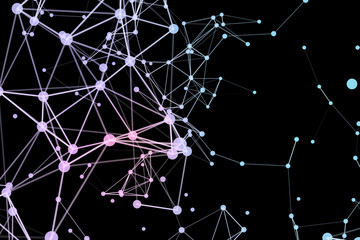 Abstract network data connection technology. Digital background