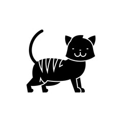 cat cute icon, illustration, vector sign on isolated background